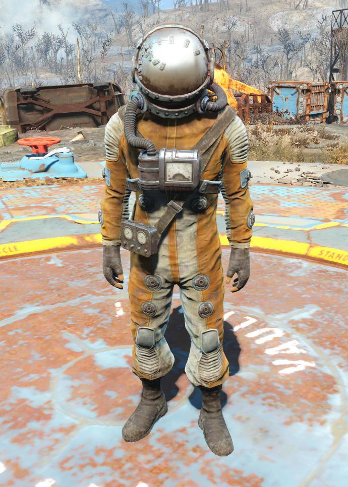 Damaged hazmat suit male