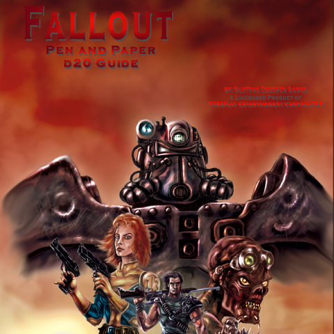 First version of the <i>Fallout d20</i> cover