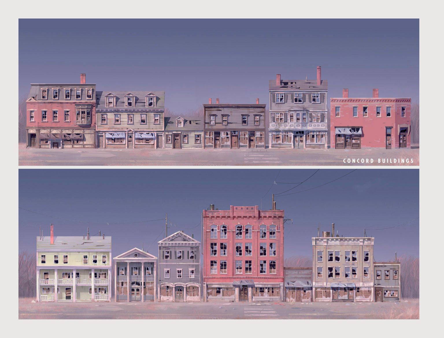 Art of Fo4 Concord buildings