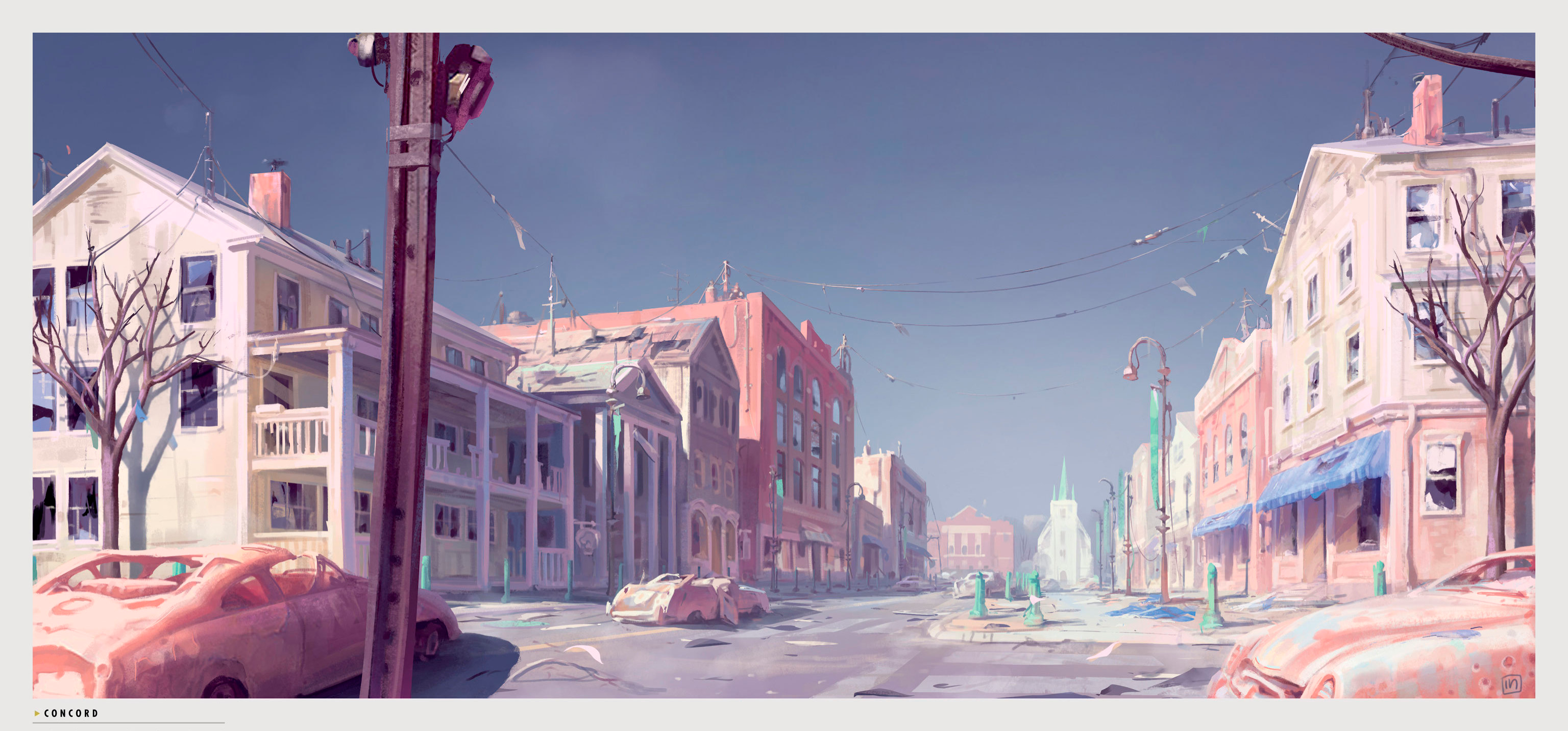 Art of Fo4 Concord panorama