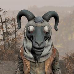 FO76 Sheepsquatch mascot head