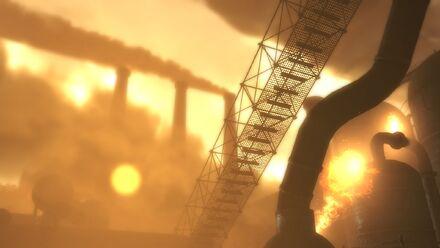 The three steelyard chimneys