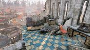 Fo76 Abandoned bog town (Cooking station)