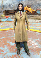 Yellow trench coat -female