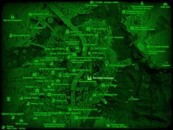 FO4 Почтовая площадь (карта мира)