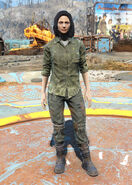 FO4 Gunner flannel shirt and jeans female