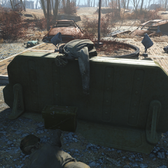 Ammo box in front of the office