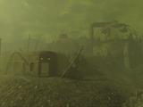 Site de réacteur délabré