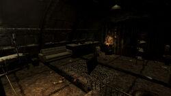 Abandoned shack Goodsprings interior