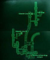 Esp Túneles de Jury Street Mapa Loc