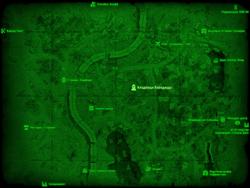 FO4 Кладбище Вайлдвуда (карта мира)