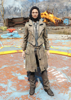 Fo4Faded Trench Coat