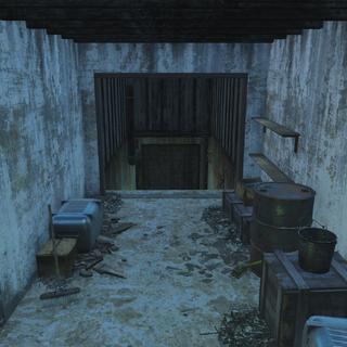 Basement entrance area