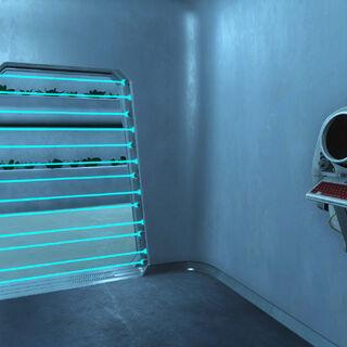 Вхід у відділ з Лабораторії ФЕВ і термінал для доступу, на випадок якщо не вдалося домовитися по-хорошому.
