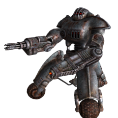 Робот-охоронець з мініганом