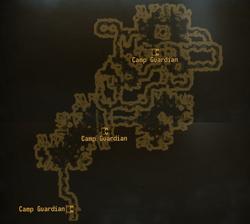 Camp Guardian caves map