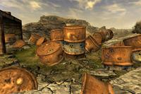 FNV Toxic radioactive barrels