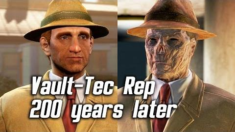 Fallout 4 - Meeting Vault-Tec Representative 200 Years Later
