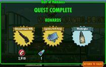 FoS Dart of Harkness - rewards