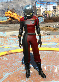 Morgan's space suit female