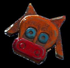 Souvenir magnet cow