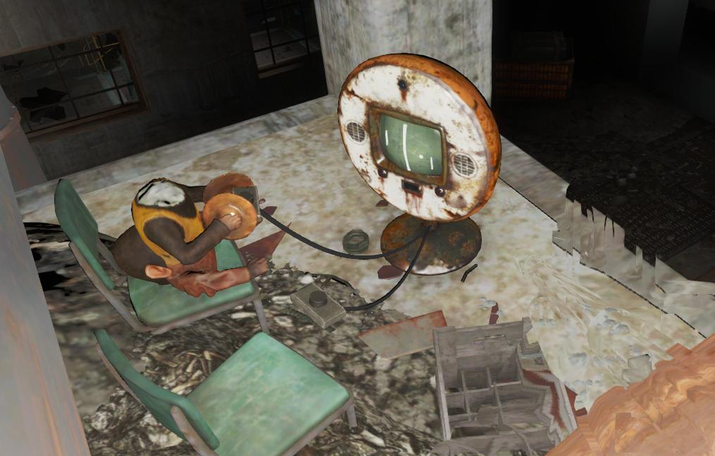FO4 automatron monkey pong