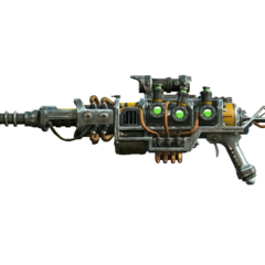 The plasma rifle variant fitted with a sniper barrel and a scope