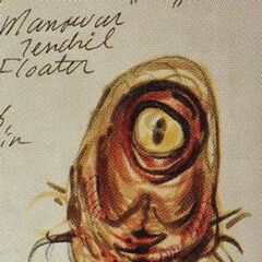 Concept art of a Manowar tendril floater in <i>The Art of Fallout 3</i>