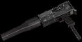 Rheinmetall 9mm machine pistol suppressor and extended magazine mods hand
