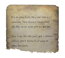 Fo4 torn note Kate