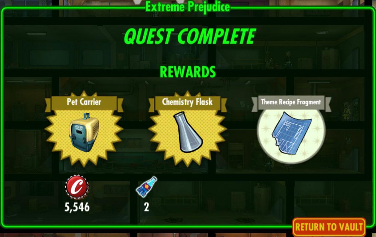FoS Extreme Prejudice rewards