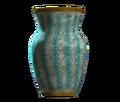 Empty teal barrel vase.png