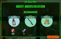 Quest-Zufall-Zur Kasse Bitte-Belohnung
