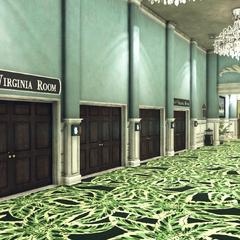 Hallway of various ballrooms