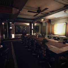 The bunker's cabinet room