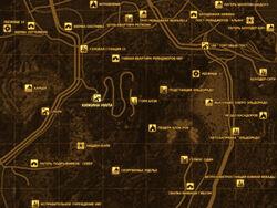 FNV Карта ХИЖИНА НИЛА