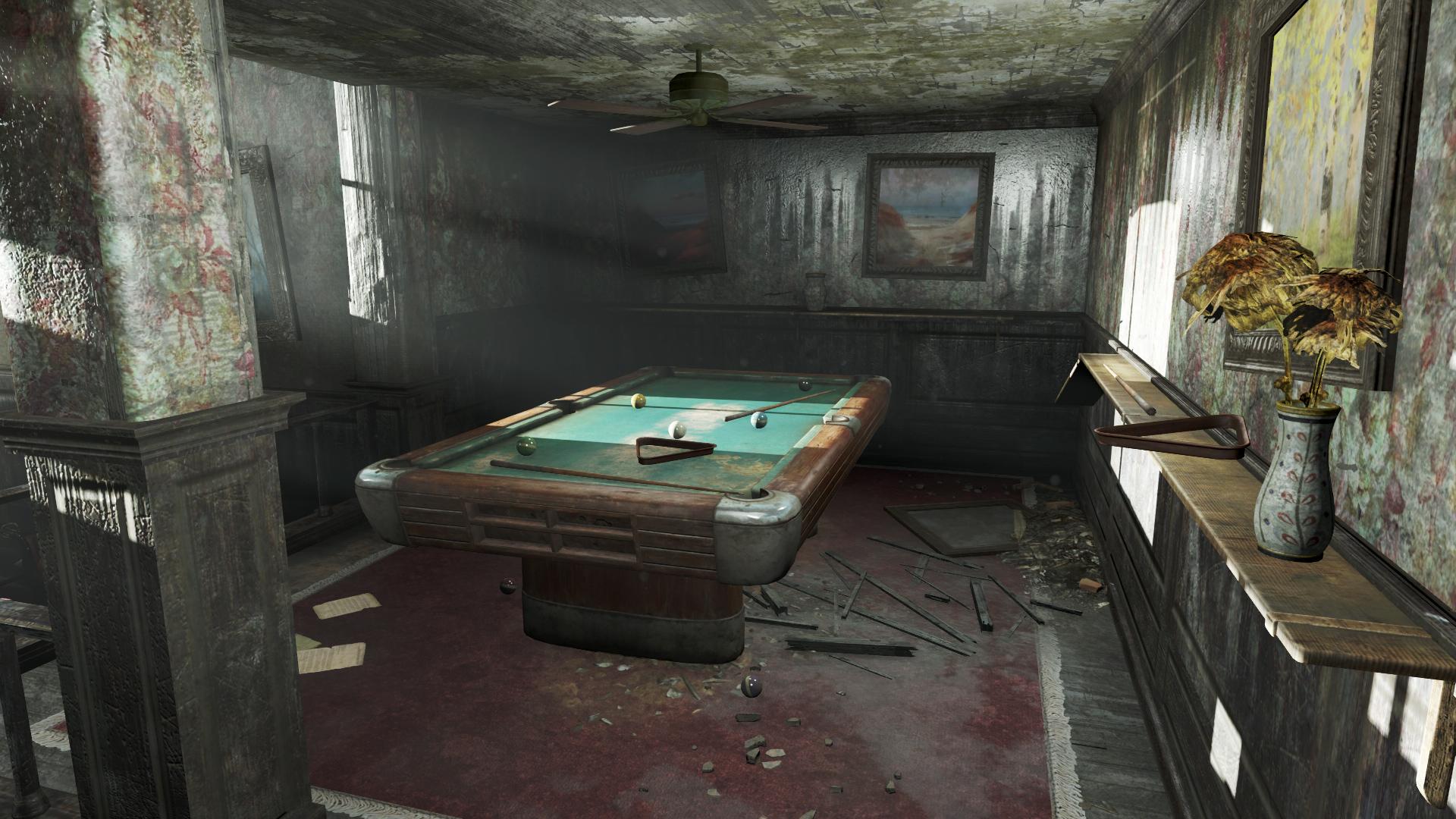 FO4 Boylston Club billiard table