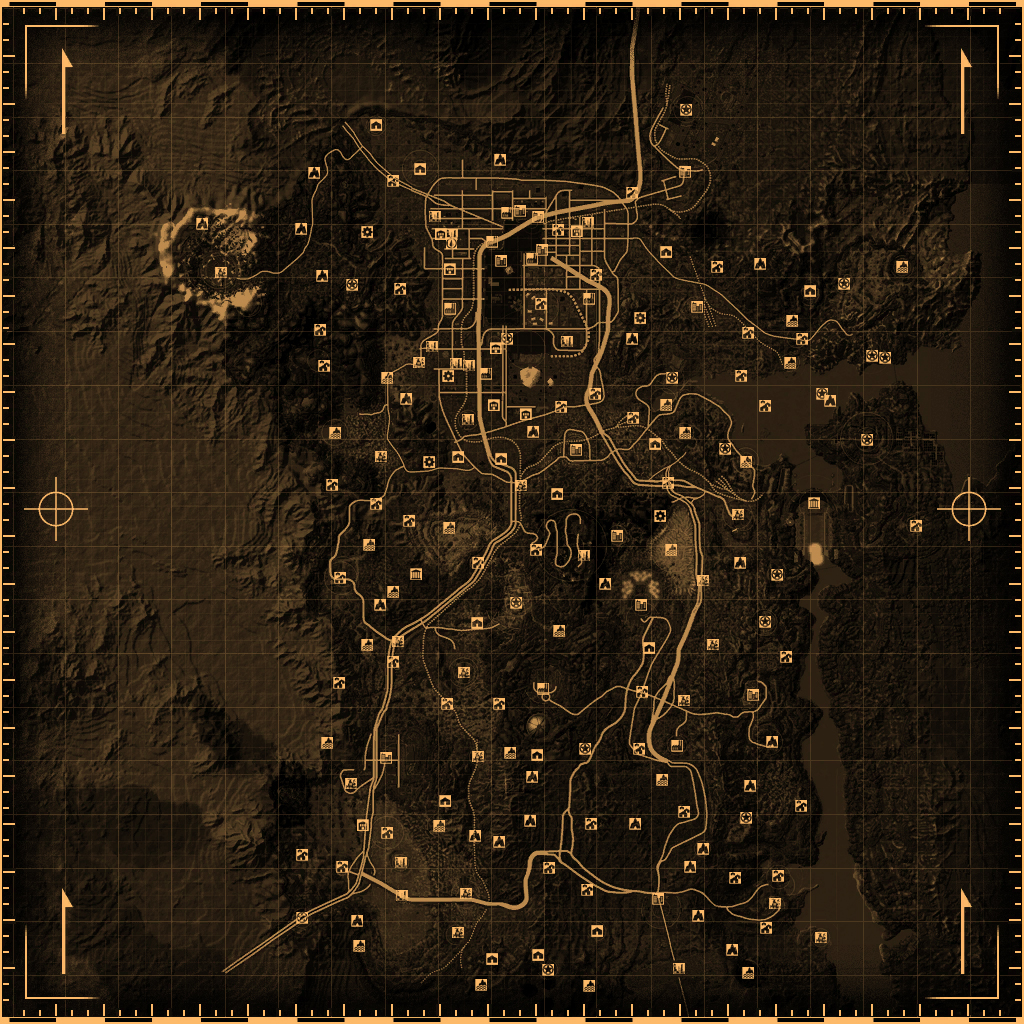 New Vegas World Map.Fallout New Vegas Locations Fallout Wiki Fandom Powered By Wikia