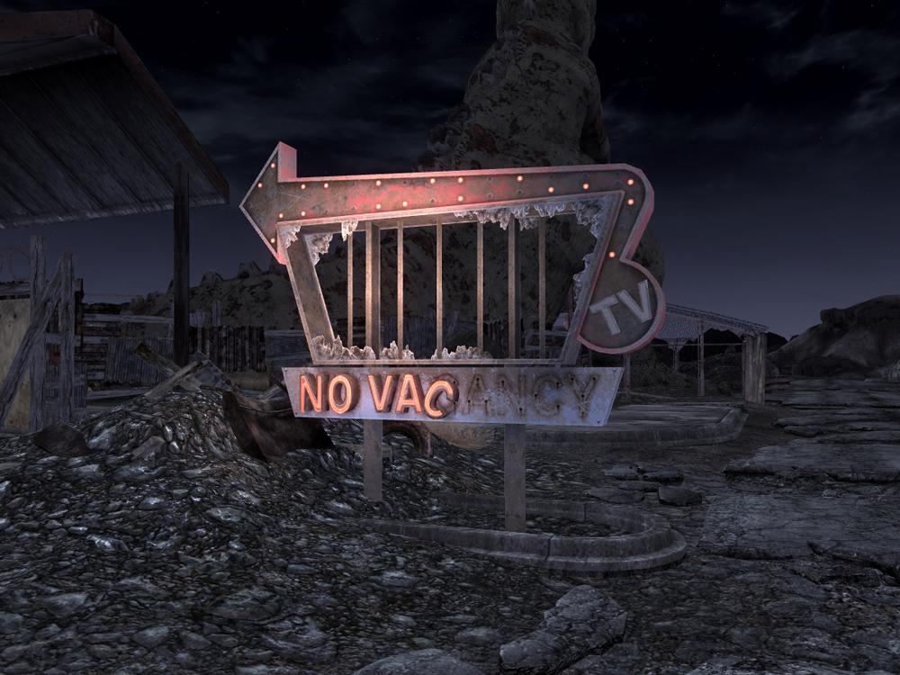 Novacancy at night