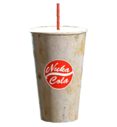 Nuka-Cola cup and straw