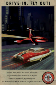 FO4 Red Rocket Drive In Fly Out poster