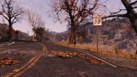 FO76 Location road sign new 4
