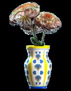 New floral vaulted vase