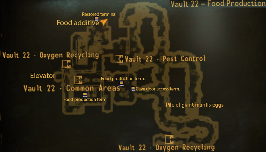 Vault 22 food production map