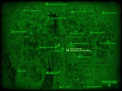 FO4 Штаб-квартира корпорации «Слокам Джо» (карта мира)