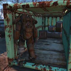 Location of the power armor