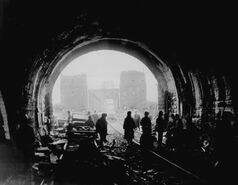 Sgt. William Spangle - American Troops Move Through Tunnel and Across Bridge in Germany - 1945