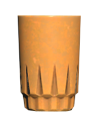 FO76 Orange drinking glass