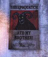 Sheepsquatch poster