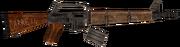 Survivalist's rifle blown up